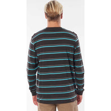 Saltwater Culture Aurora Stripe Long Sleeve  in Washed Black