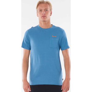 Saltwater Culture Pocket Tee in Frost