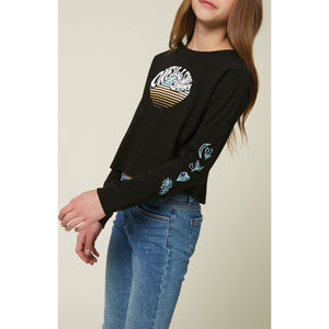 GIRLS L/S SCREEN TEE SLOWDOWN