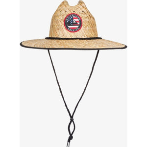 Outsider Merica Straw Lifeguard Hat