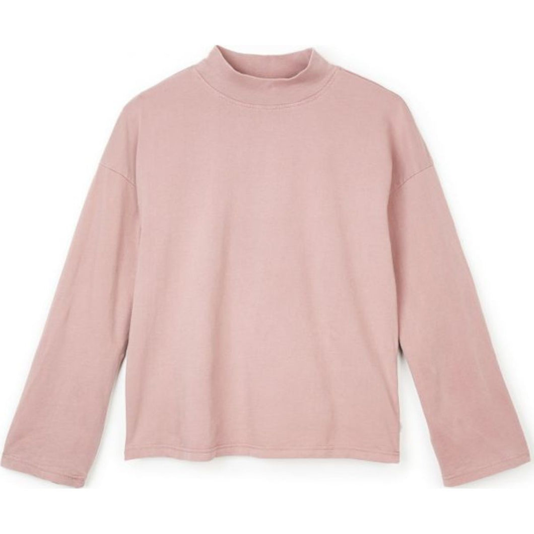 ANNE L/S MOCK NECK TEE - MAUVE