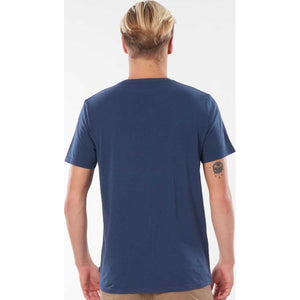 Surf Revival Circle Tee in Navy