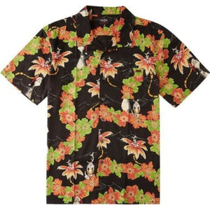 Boys' Sundays Floral Grinch Short Sleeve Shirt