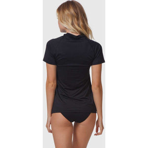 Sunny Rays Relaxed Fit Short Sleeve Rash Guard in Denim