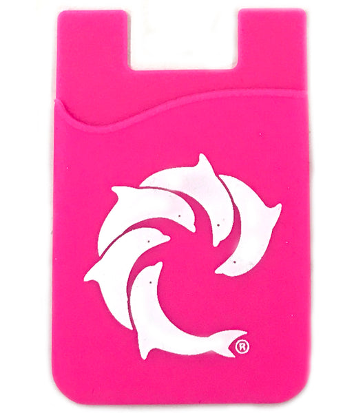 DOLPHIN PHONE WALLET WHITE LOGO