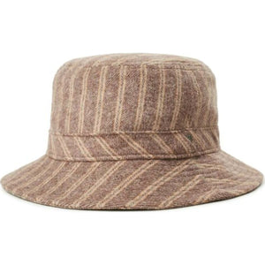HARDY WOMENS BUCKET HAT - MAROON STRIPE