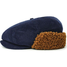 BROOD EARFLAP SNAP CAP - WASHED NAVY