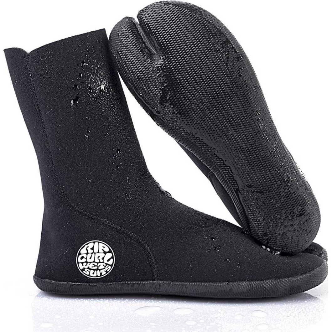 Bullet Boot 3mm Split Toe Wetsuit Booties in Black