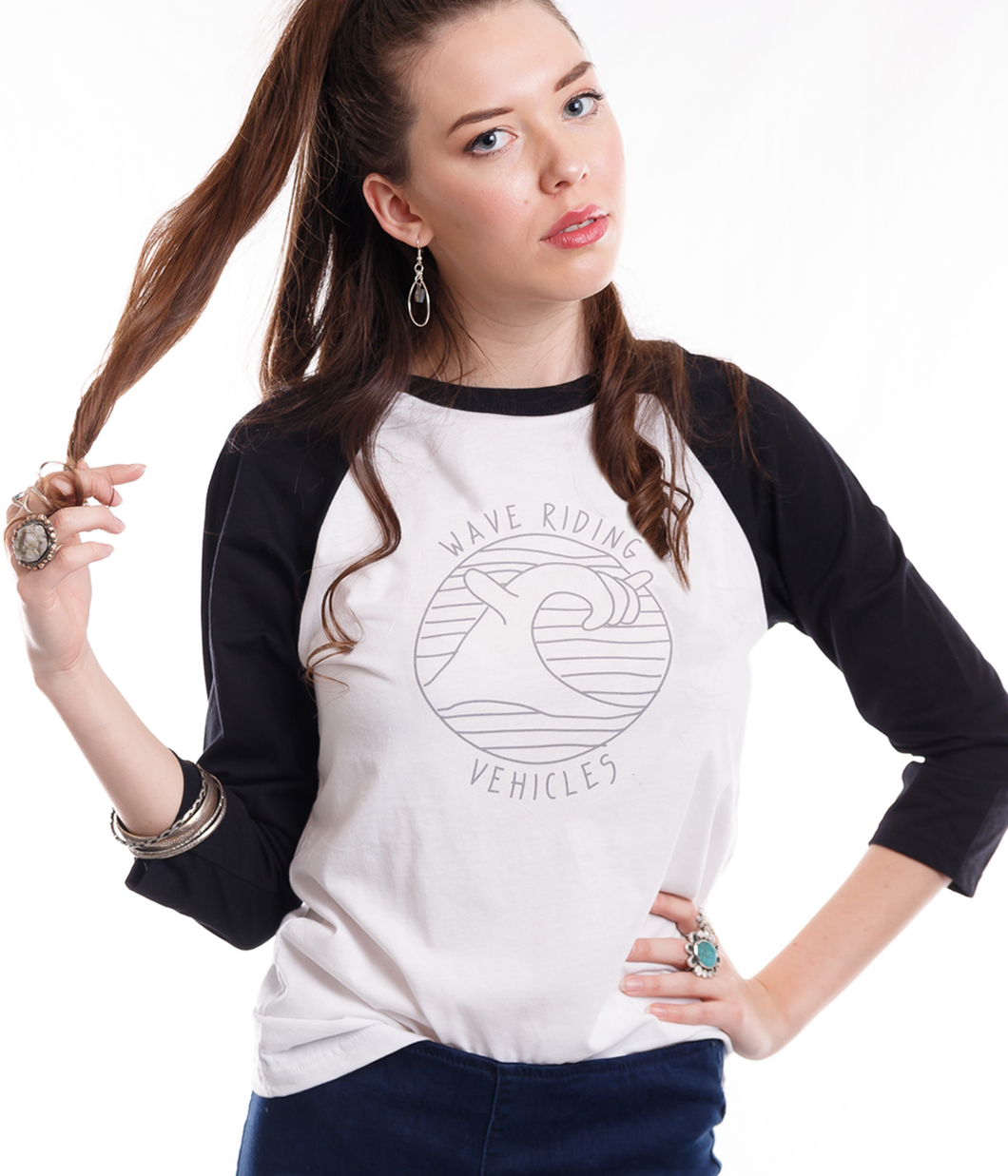 LADIES WAVE SHAKA RAGLAN