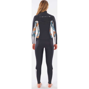 Women's Dawn Patrol 3/2 Chest Zip Wetsuit in Charcoal Grey
