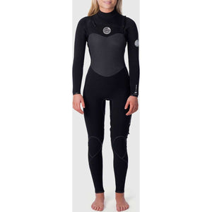 Women's Flashbomb 3/2 Chest Zip Wetsuit in Blue