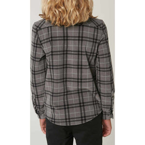 BOYS LONG SLEEVE GLACIER PLAID
