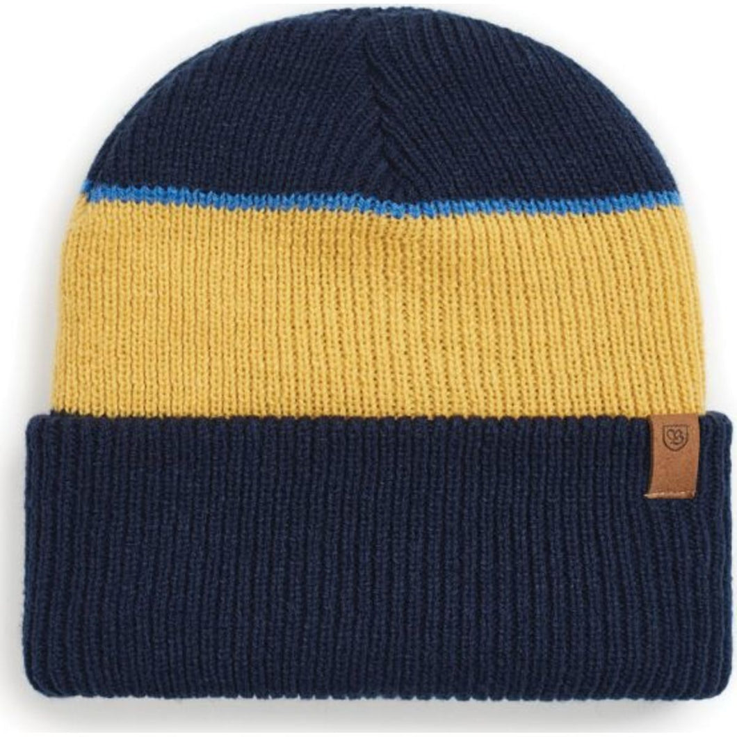 Distributor Beanie - Washed Navy/Sunset Yellow
