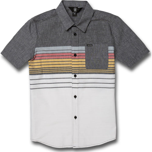 BIG BOYS COMBO STRIPE SHORT SLEEVE TEE - BLACK