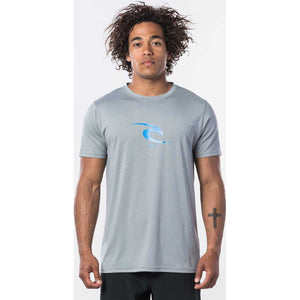 Icon Short Sleeve Rash Guard in Light Grey