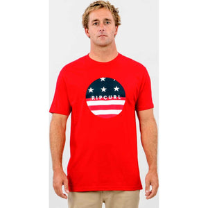 Freedom Flag Premium Tee in Red