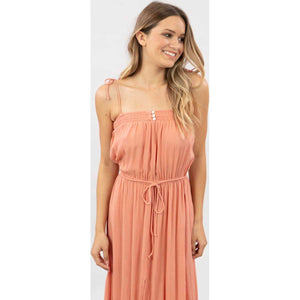 Sunset Glow Maxi Dress in Peach