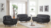 Contemporary Living Room Group in Black by Furniture World