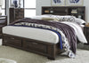 Newland Storage Bookcase Bed 6 Piece Bedroom Set in Cappuccino Finish by Liberty Furniture - 148-BR