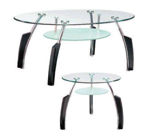 Clear Cocktail Table 3PC Set by Furniture World