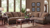 Dark Mocha Chenille Living Room Group by Furniture World