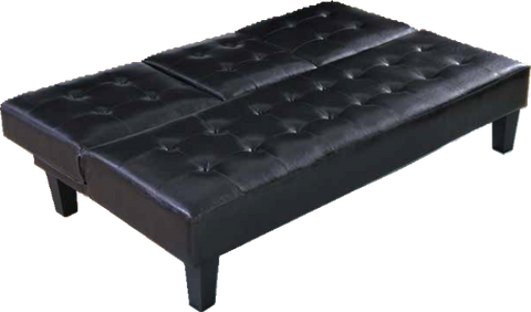 Black Sleeper Sofa with Cup Holders by Furniture World