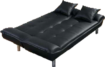 Plush Black and Pillow Sleeper Sofa by Furniture World