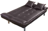 Plush Espresso and Pillow Sleeper Sofa by Furniture World
