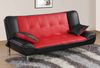 Plush Red and Pillow Sleeper Sofa by Furniture World