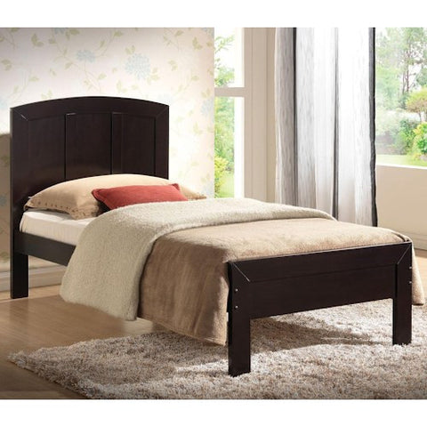 Acme Furniture Donato Casual Twin Platform Bed with Rounded Headboard