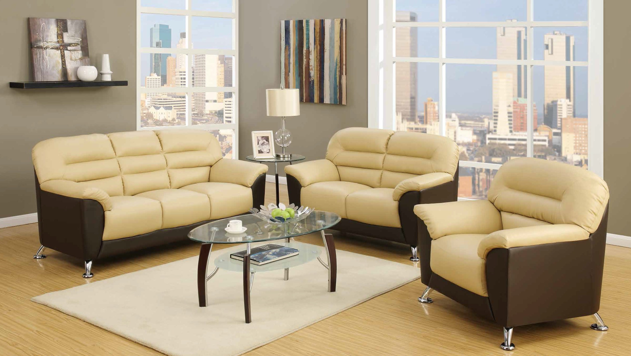 Almond Brown Living Room Group By Furniture World