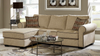 Cream Chenille Sectional by Furniture World