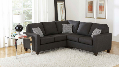 Charcoal Chenille Sectional by Furniture World