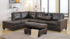Reversible Sectional with Storage Ottoman by Furniture World