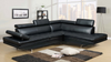 Modern Living Room Sectional in Grey Sateen by Furniture World