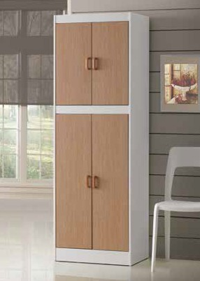 White & Oak Kitchen Pantry Cabinet by Furniture World