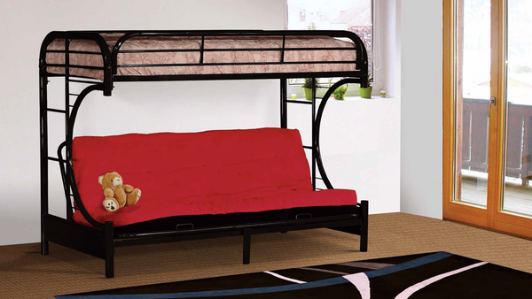 Black Futon Bunk Bed by Furniture World