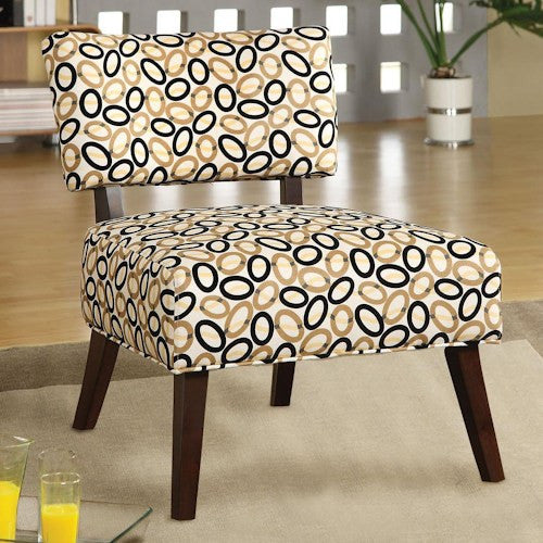 Acme Furniture Able Armless Accent Chair with Geometric Print