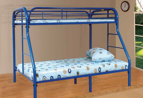 Blue Twin over Full Bunk Bed by Furniture World