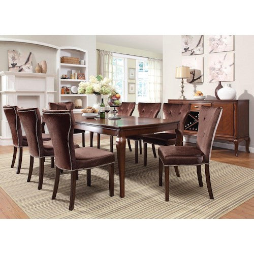Kingston 9 Piece Formal Dining Table And Chair Set By Acme Furniture
