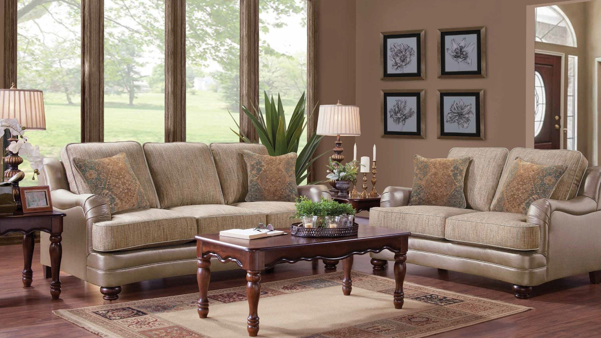 Oatmeal Chenille Living Room Group By Furniture World Sale