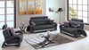Modern Leather w/ Silver Trim Living Room Group by Furniture World