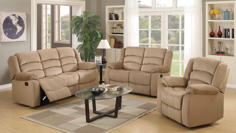 Contoured Fabric Living Room Group by Furniture World