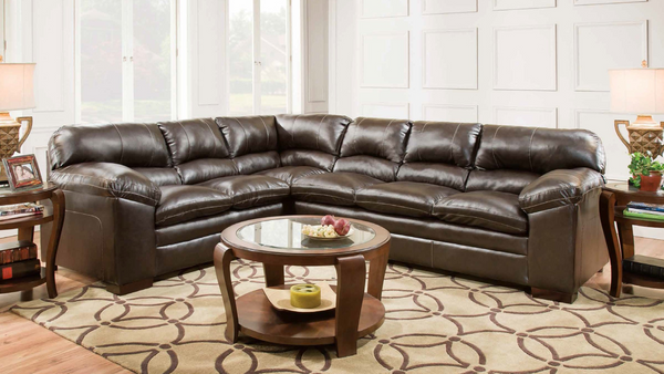 Ultra Plush Sectional in Brown by Furniture World