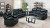 4 Recliner Leather Living Room Group by Furniture World