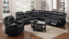 5 Recliner Leather Sectional w/ Console by Furniture World