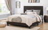 Brown Fabric Upholstered Bed by Furniture World