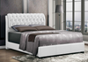 White Tufted Headboard Platform Bed by Furniture World