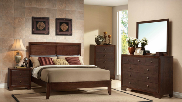 Brown Cherry Bedroom Group by Furniture World