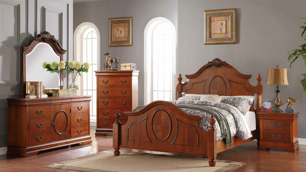 Ornate & Traditional Bedroom Group in Cherry by Furniture World